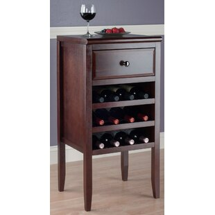 Darby Home Co Crescent 12 Bottle Floor Wine Cabinet
