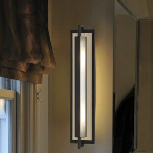 Mila 1-Light Armed Sconce By Feiss Wall Lights