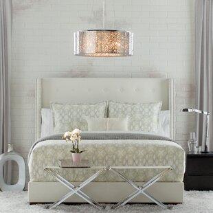 Wade Logan Arno Upholstered Panel Bed