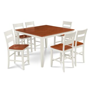 Charlestown 7 Piece Counter Height Solid Wood Dining Set