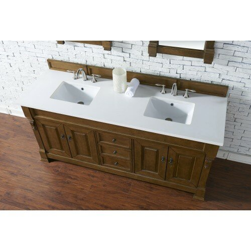 "Oak Bathroom Vanities darby home co bedrock 72"" double country oak bathroom vanity set"