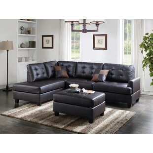 Leather Sofa With Ottoman | Wayfair
