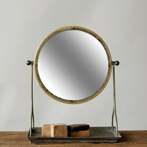 vanity mirror on stand. Metal Framed Mirror On Stand Makeup  Shaving Mirrors You ll Love Wayfair