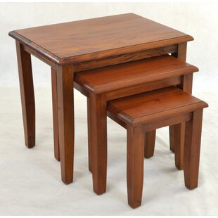 Berkshire 3 Piece Solid Wood Nest Of Tables By Rosalind Wheeler