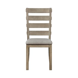 Rayners Fabric Ladder Back Side Chair in Taupe