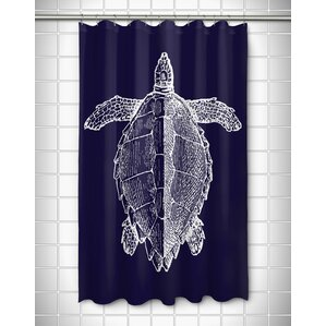 Vintage Coastal Sea Turtle Shower Curtain