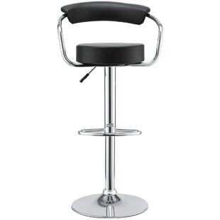 Orren Ellis Channon Modern Adjustable Height Swivel Bar Stool (Set of 2)