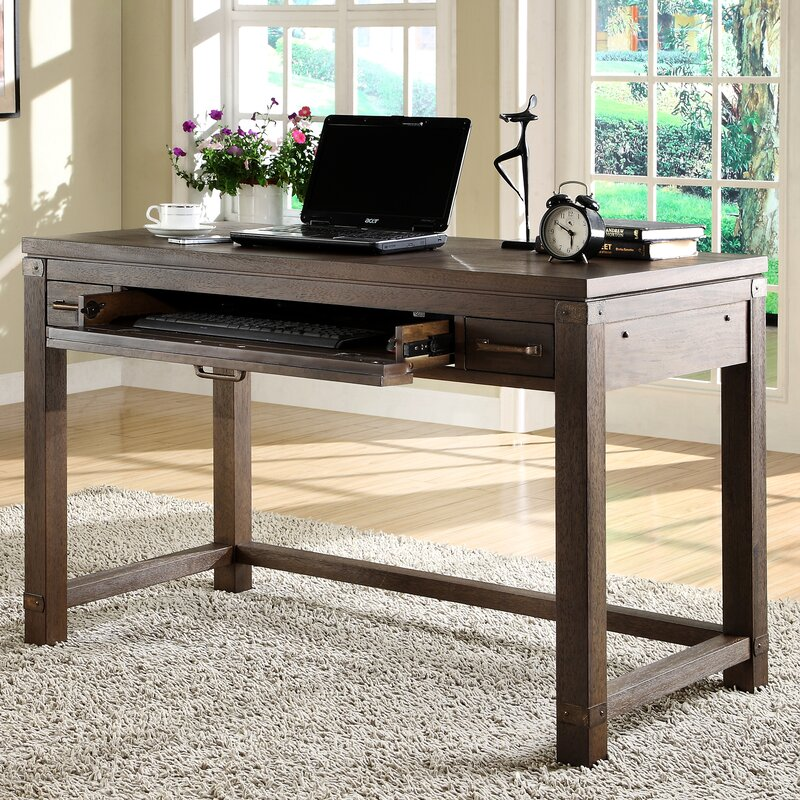 Beartree Wood Computer Desk With Keyboard Tray