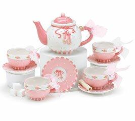 Farish 9 Piece Ceramic Mini Ballet Shoes Tea Set