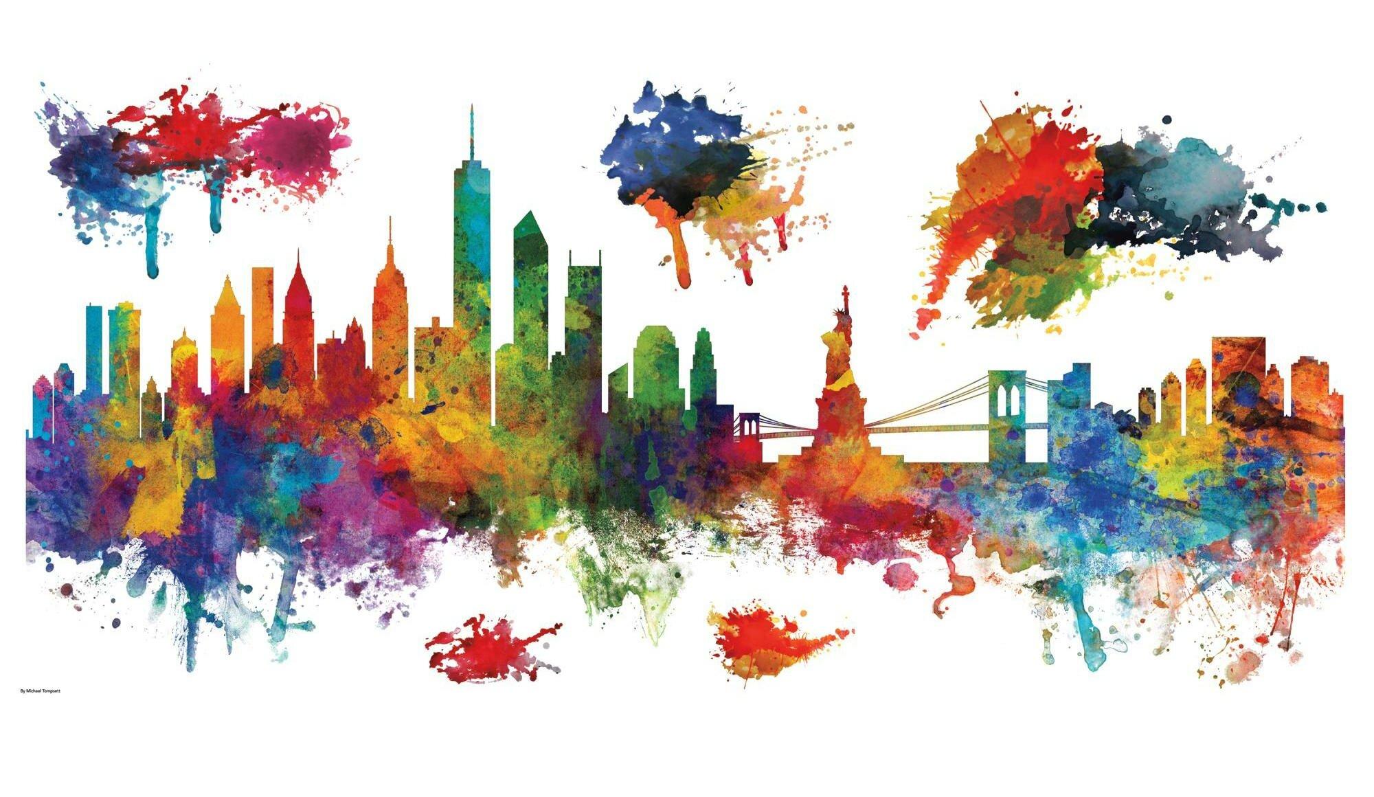 New York III City Skyline highest quality wall decal stickers