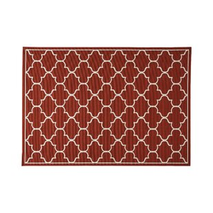 Hennessey Geometric Red Indoor/Outdoor Area Rug