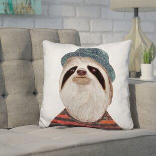 dfe942f36b9 Hibbs Sloth Throw Pillow