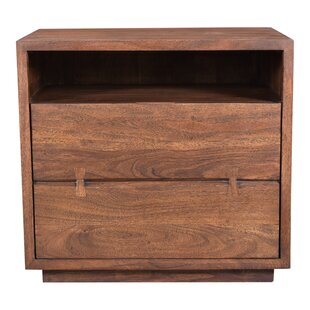 Affordable Hampshire 2 Drawer Nightstand by Loon Peak