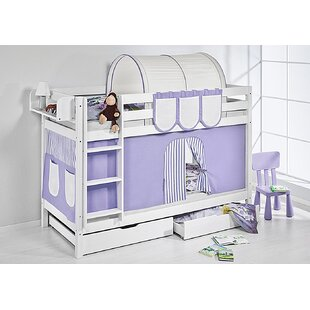 Belle Bunk Bed with Bottom Bunk Curtain by Just Kids