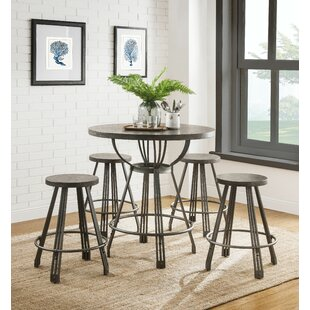 Bopp 5 Pieces Pack Counter Height Dining Set by Williston Forge