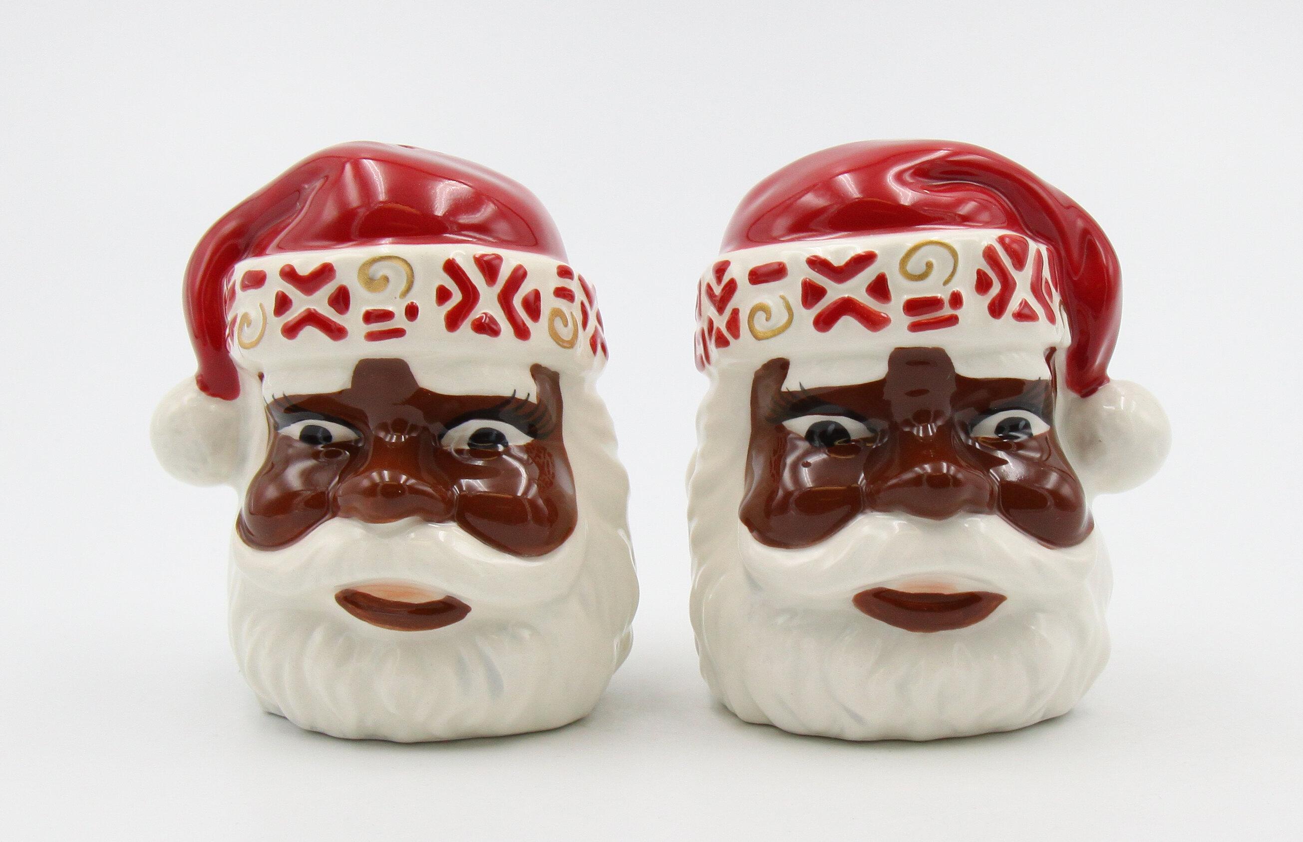 Cosmosgifts Cosmos Gifts First Light African American Santa Salt And Pepper Shaker Set Reviews Wayfair