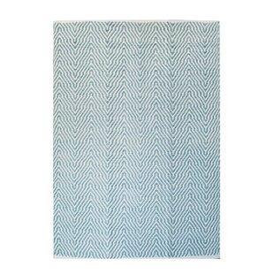 Aperitif 410 Handwoven Wool Turquoise Rug