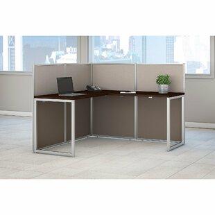 Bush Business Furniture Easy Office 2 Piece L-Shape Desk Office Suite