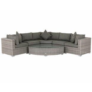 Feldman 5 Seater Rattan Sofa Set By Sol 72 Outdoor