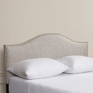 Aubuchon Nail Button Upholstered Panel Headboard