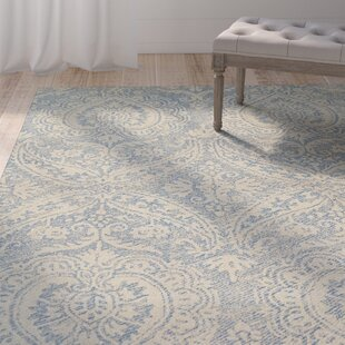 Crown Point Hand-Tufted Glacier Blue/Linen Indoor/Outdoor Area Rug