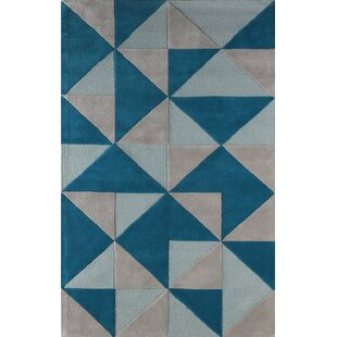Find the perfect Lueras Hand-Tufted Wool Blue/Gray Area Rug By Brayden Studio