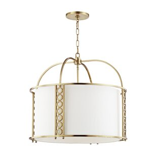 Everly Quinn Legros 8-Light Drum Pendant
