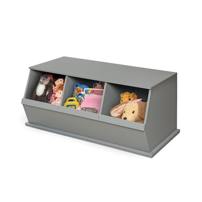 Viv + Rae Bridport Go-To Storage Cubby Toy Organizer Bins: 3, Finish: Gray