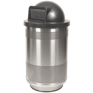 Stadium Series Perforated Metal 55 Gallon Swing Top Trash Can by Witt