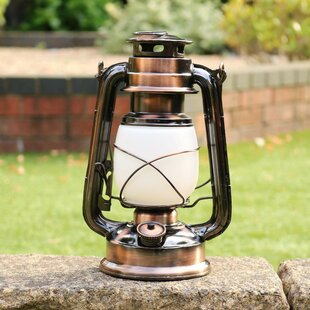 Bronze Battery Powered LED Lantern By Sol 72 Outdoor