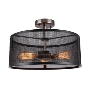 Shanda 3-Light Semi Flush Mount by 17 Stories
