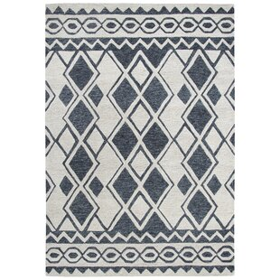 Coupon Broadlands Hand-Tufted Wool Ivory/Black Area Rug ByFoundry Select