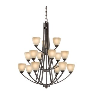 Latitude Run Lemley Helsinki 15-Light Shaded Chandelier