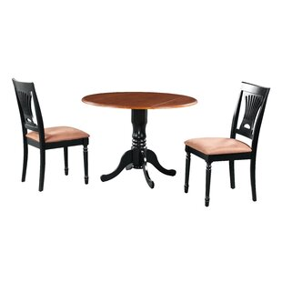 Sickles 3 Piece Drop Leaf Solid Wood Dining Set August Grove