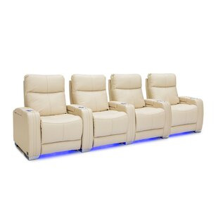 Leather Home Theater Row Seating (Row of 4) ByLatitude Run