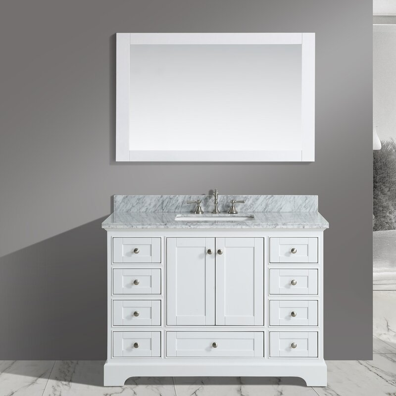 bathroom sink vanity cabinet. Jocelyn 48  Bathroom Sink Vanity Set with Mirror Inch Vanities You ll Love Wayfair