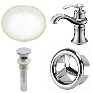 Shop For Ceramic Oval Undermount Bathroom Sink with Faucet and Overflow ByAmerican Imaginations
