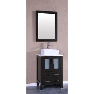 Arezzo 24 Single Bathroom Vanity Set with Mirror by Bosconi