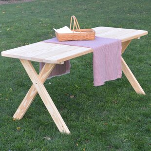 Loon Peak Unadilla Pine Cross-leg Picnic Table