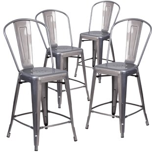 Shop For Timo 24'' Bar Stools (Set of 4) by 17 Stories Reviews (2019) & Buyer's Guide
