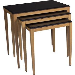 Nannette Lightweight Stackable Rectangular 3 Piece Nesting Tables