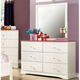 Cristina 6 Drawer Dresser with Mirror