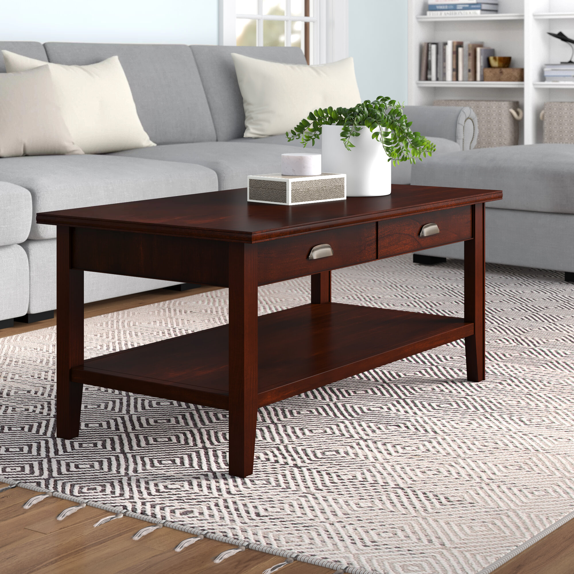 Picture of: Three Posts Stonington Solid Wood Coffee Table Reviews