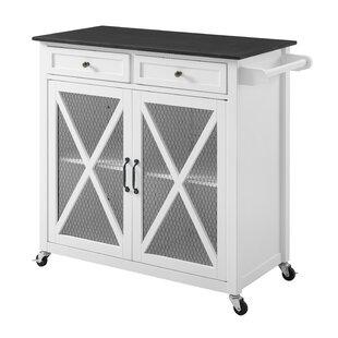 Gemma Two Door Kitchen Cart with Granite Top