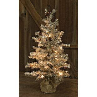 tinsel silver pine artificial christmas tree with clearwhite lights