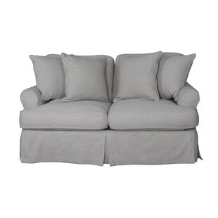 Callie Slipcovered Loveseat by August Grove Great price