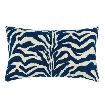 zebra marine sunbrella lumbar pillow - Sunbrella Outdoor Pillows