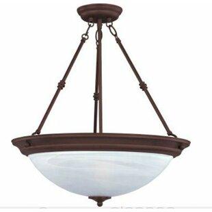 Charlton Home Maineville 3-Light Bowl Pendant