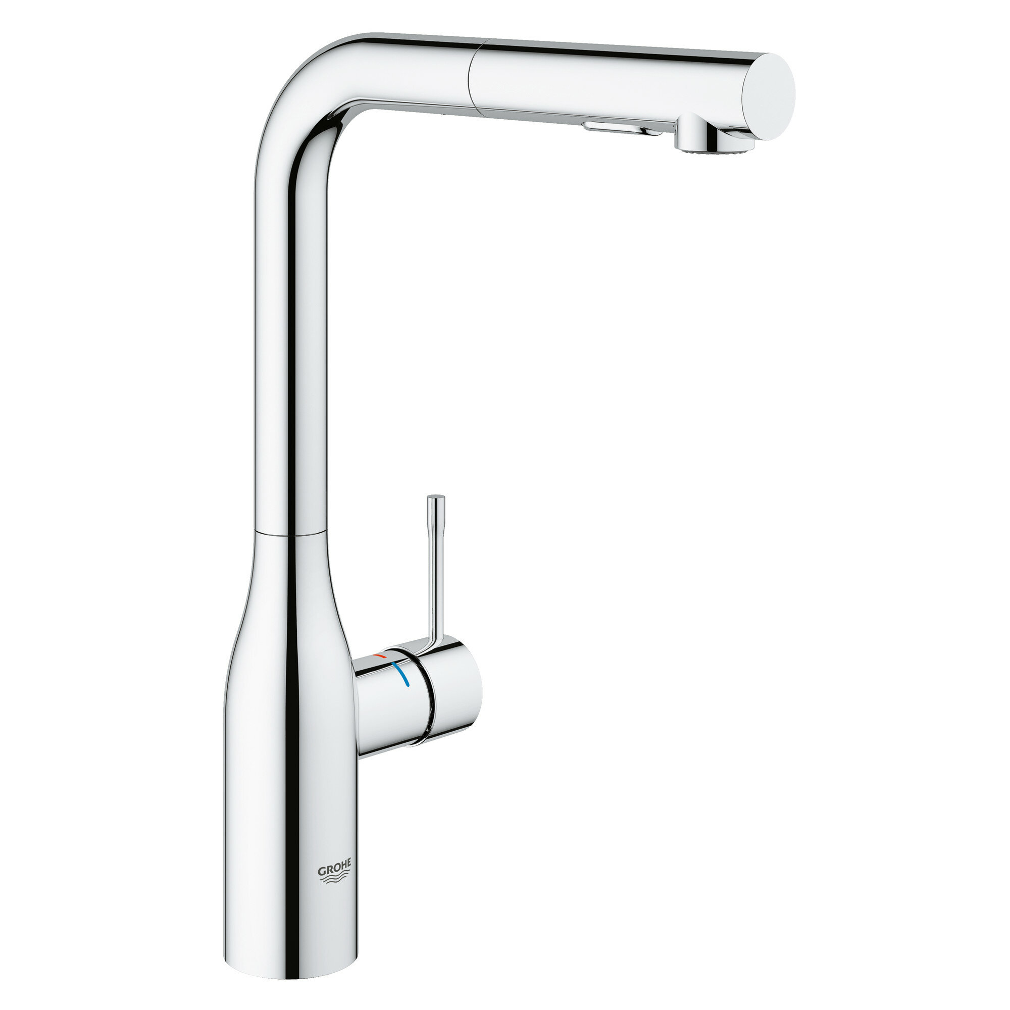 Grohe Essence Pull Out Single Handle Kitchen Faucet With Silkmove