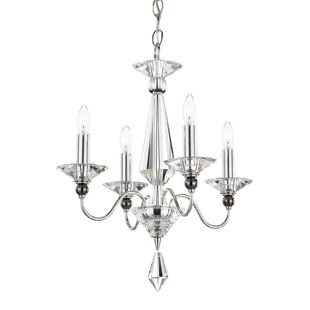 Jasmine 4-Light Candle Style Chandelier by Schonbek
